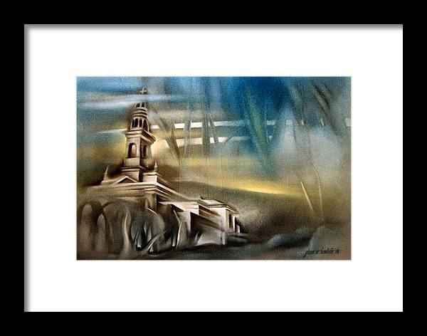 Carnota Cathedral Framed Print featuring the painting Carnota Cathedral 2006 by Glenn Bautista