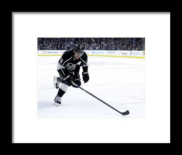 National Hockey League Framed Print featuring the photograph Carolina Hurricanes V Los Angeles Kings by Harry How