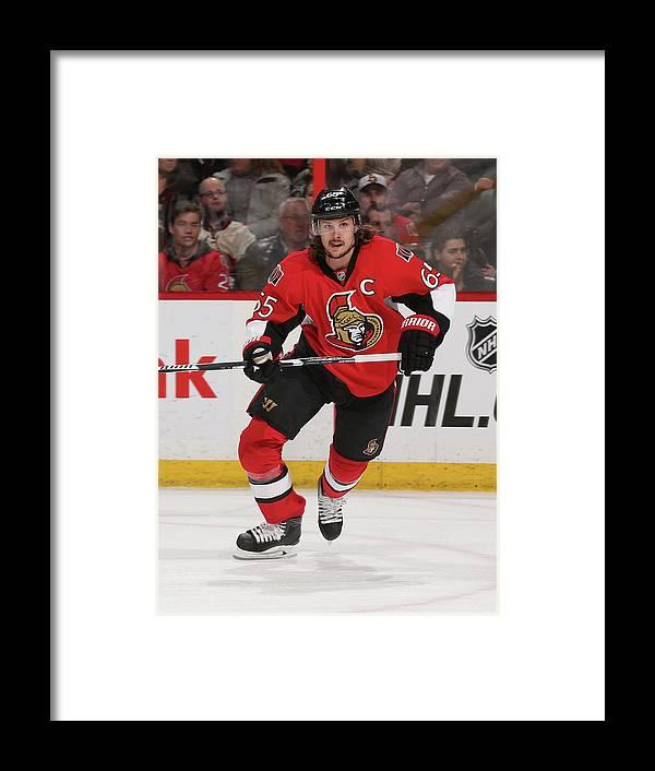 People Framed Print featuring the photograph Carolina Hurricanes V Ottawa Senators by Andre Ringuette
