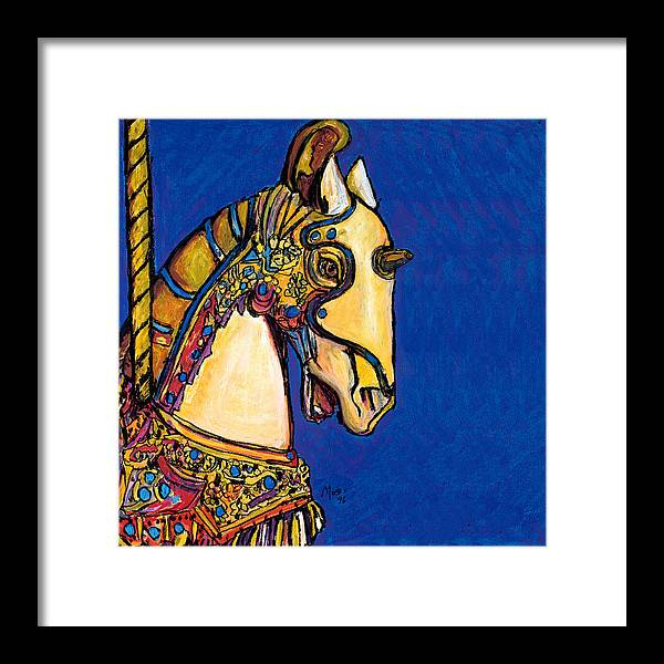 Carousel Framed Print featuring the painting Carousel Horse by Dale Moses