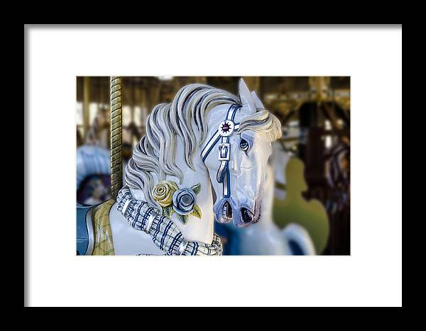 Amusement Framed Print featuring the photograph Carousel Horse by Gej Jones