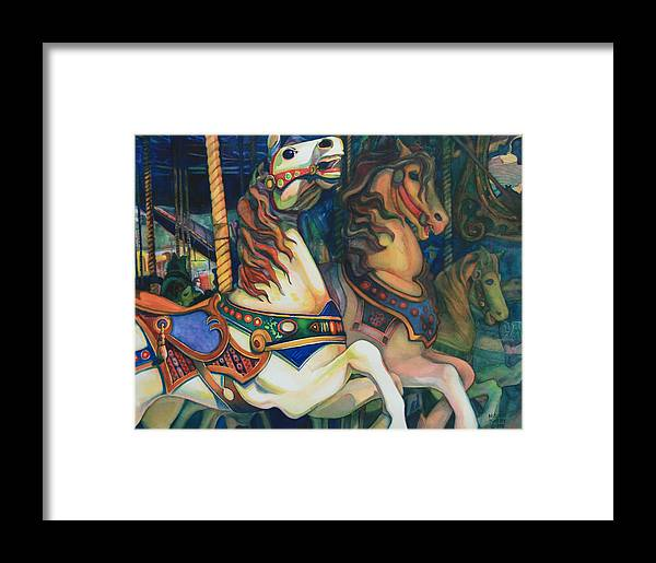 Carousel Framed Print featuring the painting Carousel by Michelle Scott
