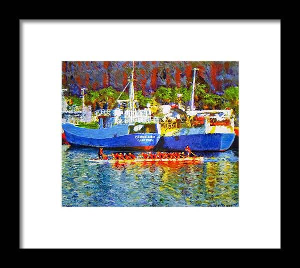 Boat Framed Print featuring the painting Carpe Diem by Michael Durst