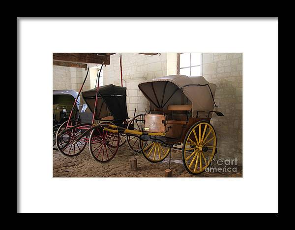 Carriage Framed Print featuring the photograph Carriage - Chateau Usse by Christiane Schulze Art And Photography