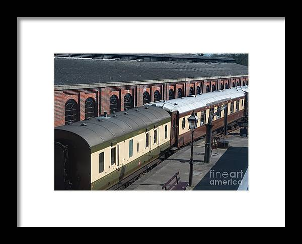 Bluebell Railway Framed Print featuring the digital art Carriages by Paul Stevens
