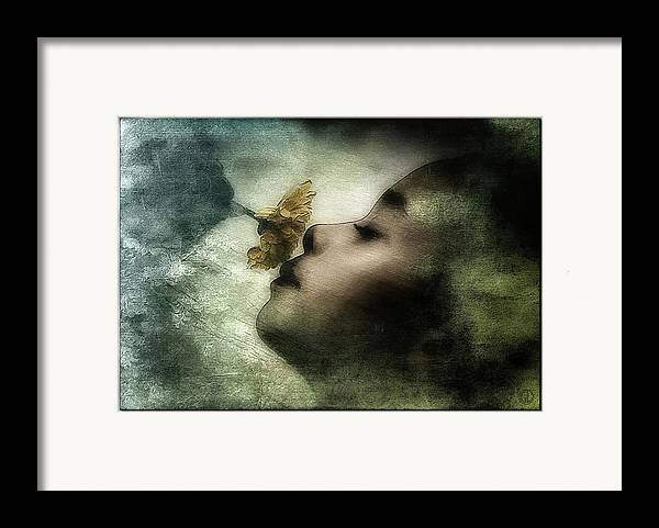 Girl Framed Print featuring the digital art Carried Away By A Scent by Gun Legler