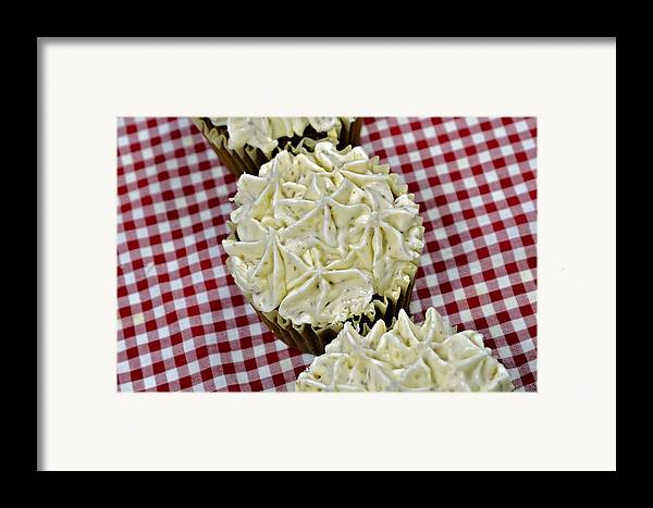 Baking Framed Print featuring the photograph Carrot Cupcakes by Susan Leggett