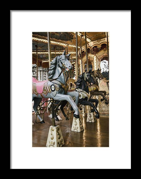 Carousel Framed Print featuring the photograph Carousel by Phyllis Taylor