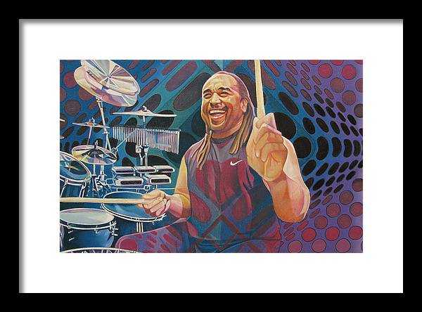 Carter Beauford Framed Print featuring the drawing Carter Beauford-op Series by Joshua Morton