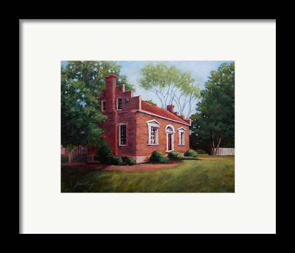 Carter House Framed Print featuring the painting Carter House In Franklin Tennessee by Janet King