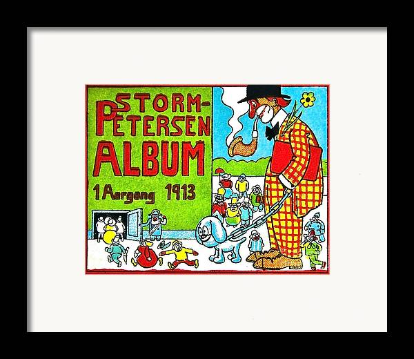 Artist Framed Print featuring the painting Cartoon 01 by Svetlana Sewell