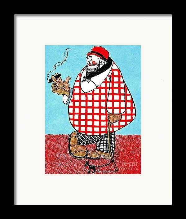 Artist Framed Print featuring the painting Cartoon 05 by Svetlana Sewell