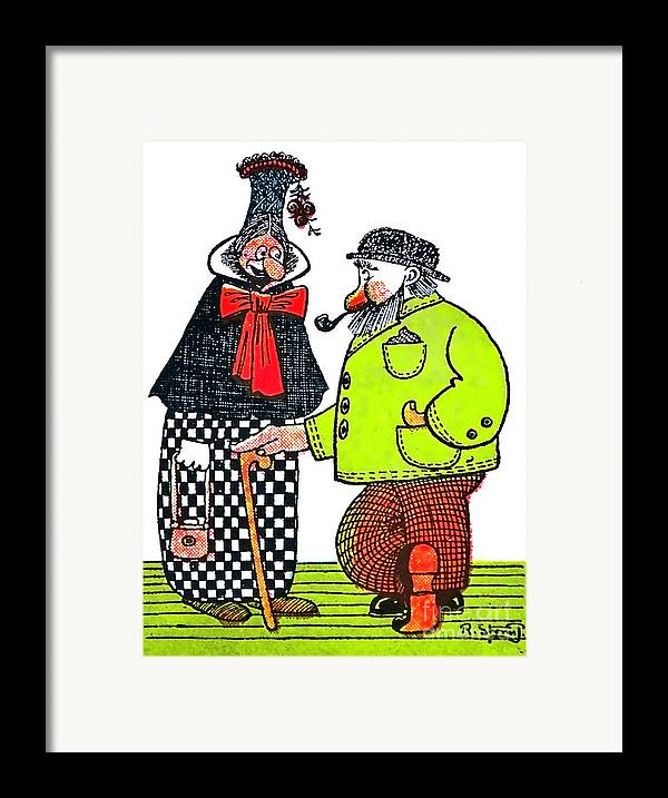 Artist Framed Print featuring the painting Cartoon 08 by Svetlana Sewell