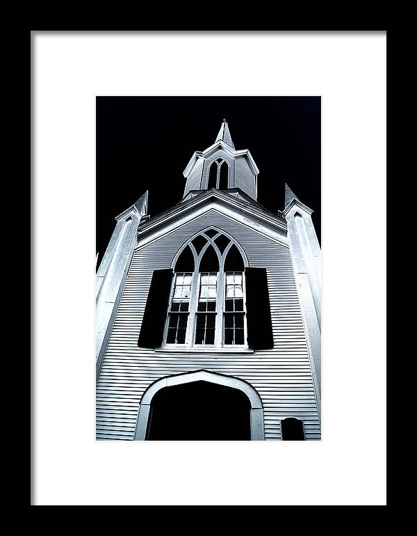 Massachusetts Framed Print featuring the photograph Carver Church by David DeCenzo