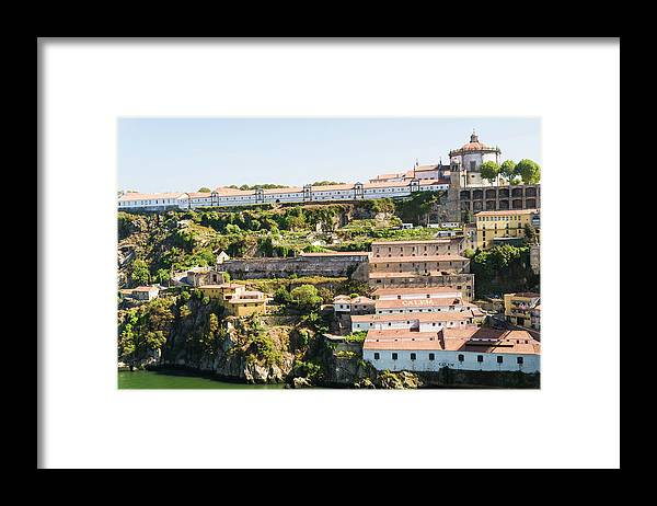 Clear Sky Framed Print featuring the photograph Casa Calem, Port Wine Houses, Porto by John Harper