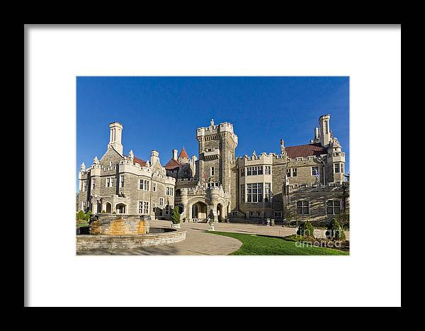 Casa Loma Framed Print featuring the photograph Casa Loma by Les Palenik