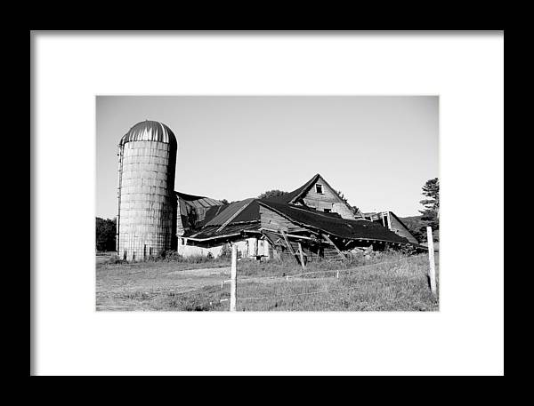 Barn Framed Print featuring the photograph Cascade Street Pittsfield Massachusetts by Katharine Mahoney