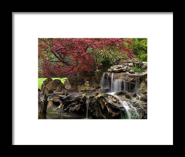 Cascading Framed Print featuring the photograph Cascading Waterfall by Doug Dailey