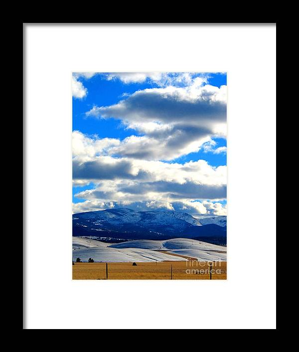 Casey Peak Framed Print featuring the photograph Casey And High Peaks In Winter by Matthew Peek