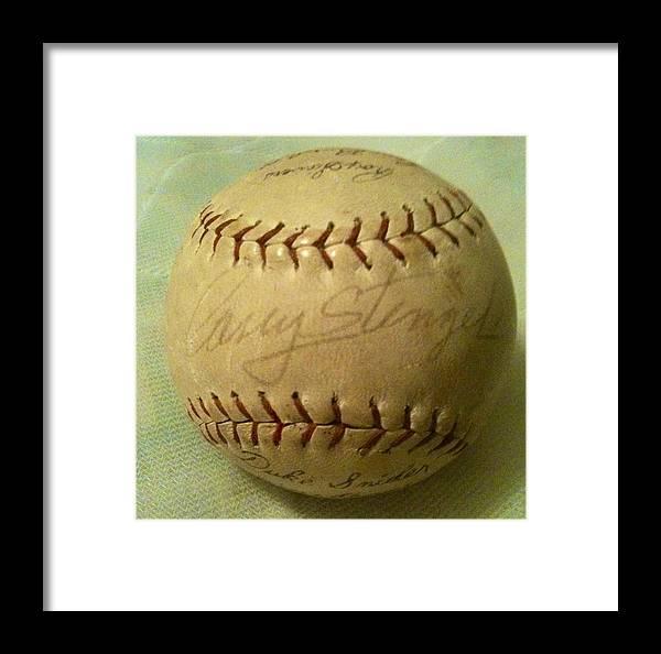 Spring Training Framed Print featuring the photograph Casey Stengel Baseball Autograph by Lois Ivancin Tavaf