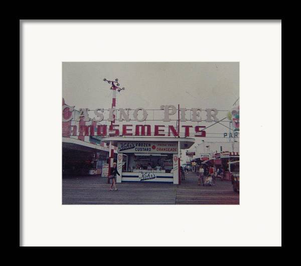Seaside Heights Framed Print featuring the photograph Casino Pier Amusements Seaside Heights Nj by Joann Renner