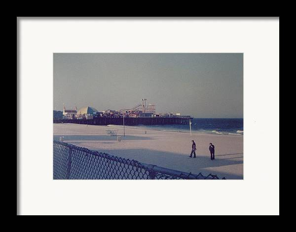 Beach Framed Print featuring the photograph Casino Pier Seaside Heights Nj by Joann Renner