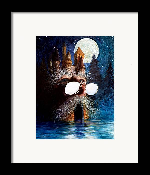 Fantasy Creatures Framed Print featuring the painting Casolgye by Frank Robert Dixon