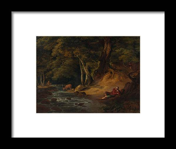 Forest Framed Print featuring the painting Cast Away by R-A Kaka