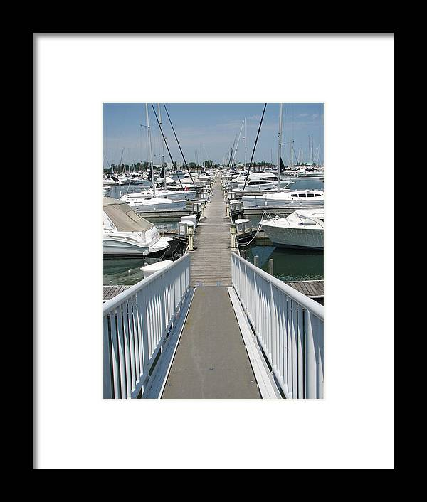 Boat Marina Framed Print featuring the photograph Cast Off by Sue Thomson