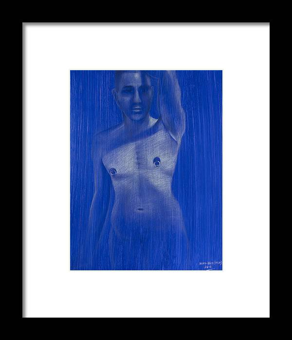 Young Framed Print featuring the drawing Cast Shadow? by Billy Moro-wey