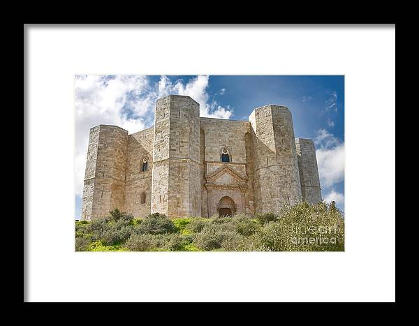 Ancient Framed Print featuring the photograph Castel Del Monte by Gabriela Insuratelu