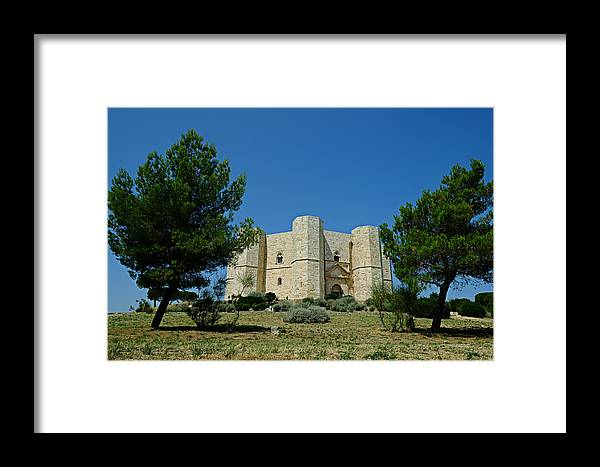Castel Del Monte Framed Print featuring the photograph Castel Del Monte by Gianmarco Cicuzza