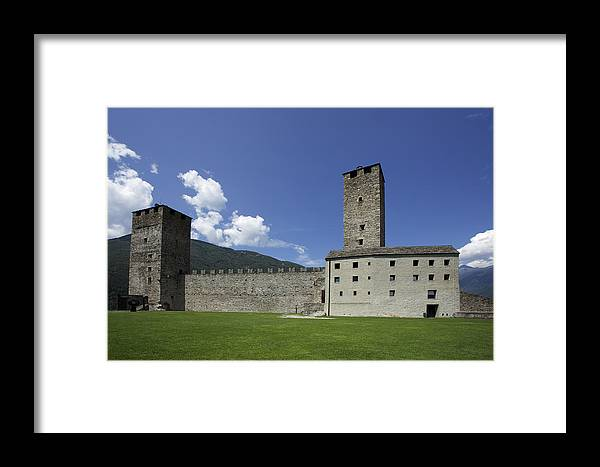 Castelgrande Framed Print featuring the photograph Castelgrande - Bellinzona II by Radka Linkova