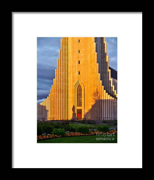 Church Framed Print featuring the photograph Casting A Long Shadow In The Low Sun by Royce Howland