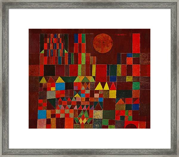 Castle And Sun Framed Print By Paul Klee
