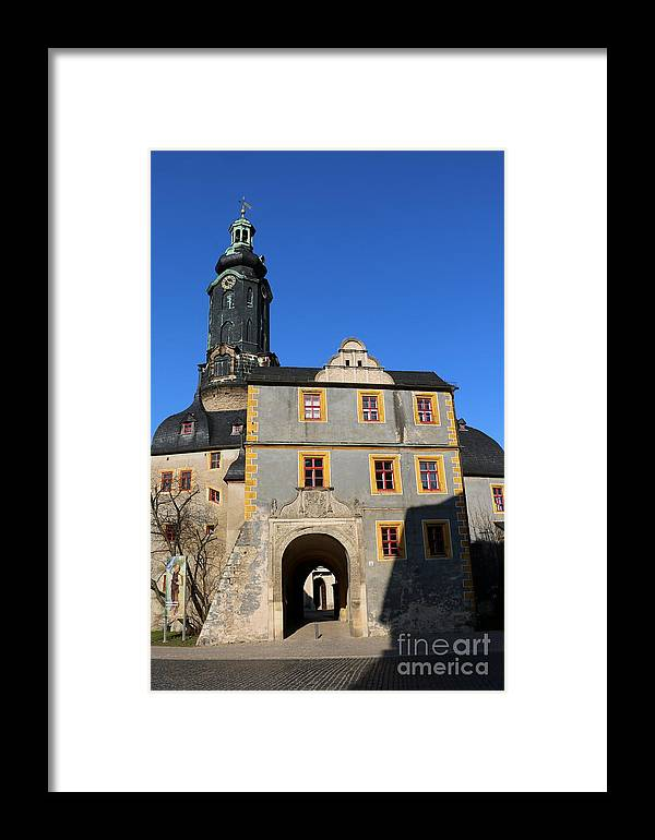 Castle Framed Print featuring the photograph Castle Church Weimar by Christiane Schulze Art And Photography