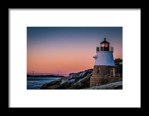 Lighthouse Framed Print featuring the photograph Castle Hill Lighthouse by Jeffrey Stolzberg