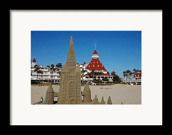 Castle In The Sand Framed Print featuring the photograph Castle In The Sand by See My Photos