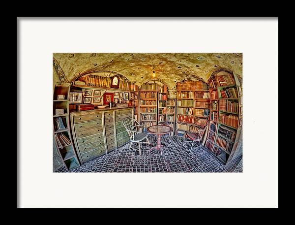 Byzantine Framed Print featuring the photograph Castle Map Room by Susan Candelario