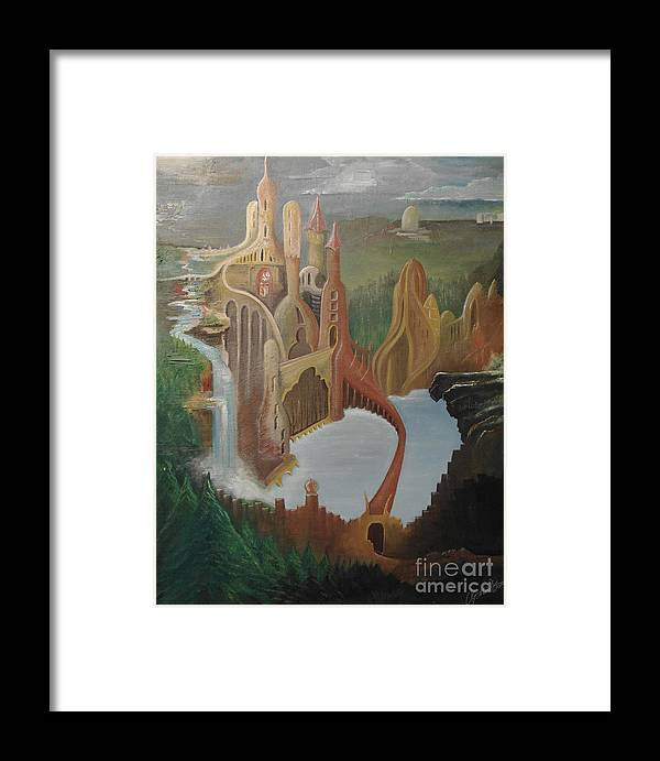 Framed Print featuring the painting Castle by Owen G Maidstone