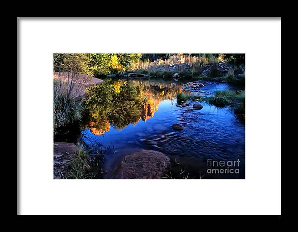 Arizona Framed Print featuring the photograph Castle Rock Reflection by Barbara D Richards