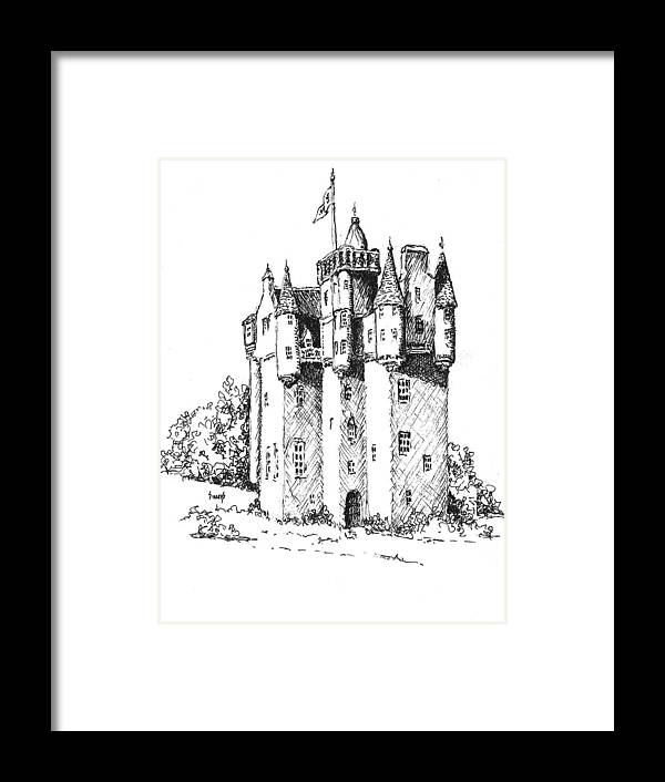 Castle Framed Print featuring the drawing Castle by Sam Sidders