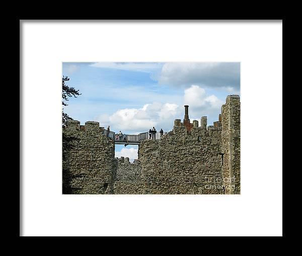 England Framed Print featuring the photograph Castle Wall Walk by Ann Horn
