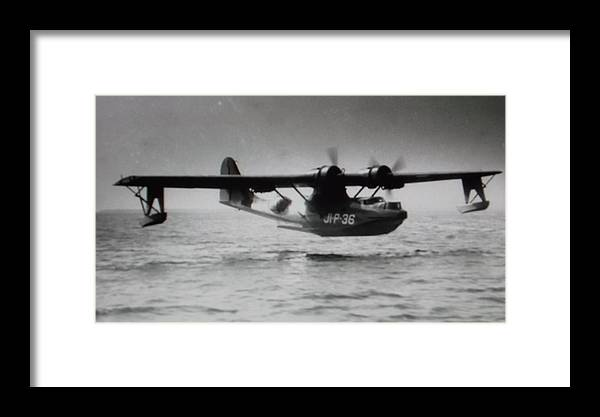Pby Consolidated Catalina Flying Boat Of U.s. Navy. Ampibian With Retractable Tricycle Gear As Well.least On The Dash 2 Model Which This Is. Framed Print featuring the photograph Catalina Pby by Everett Hickam