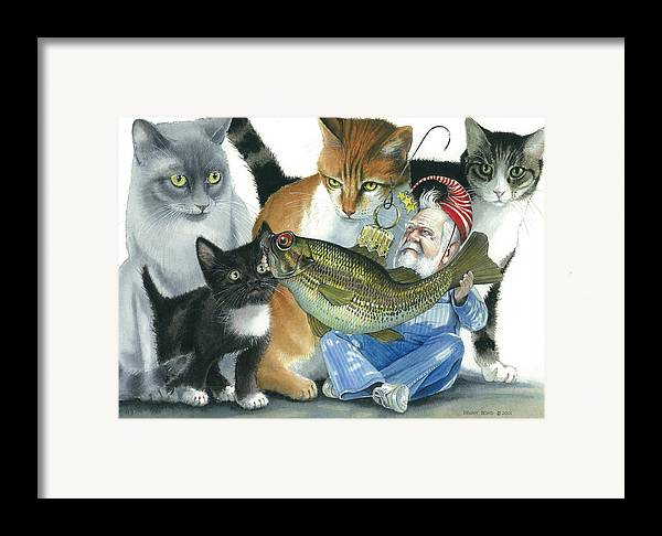 Santa Framed Print featuring the painting Catatomic by Denny Bond