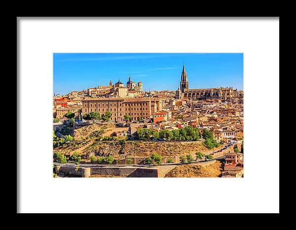Architecture Framed Print featuring the photograph Cathedral, Medieval City, Toledo, Spain by William Perry