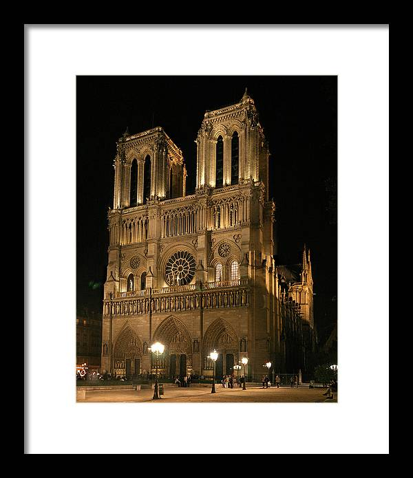 Notre Dam Photographs Framed Print featuring the photograph Cathedral Of Notre Dam by Gary Lobdell