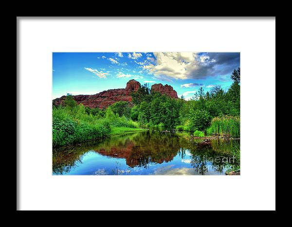 Sedona Framed Print featuring the photograph Cathedral Rocks At Red Rock Crossing by K D Graves