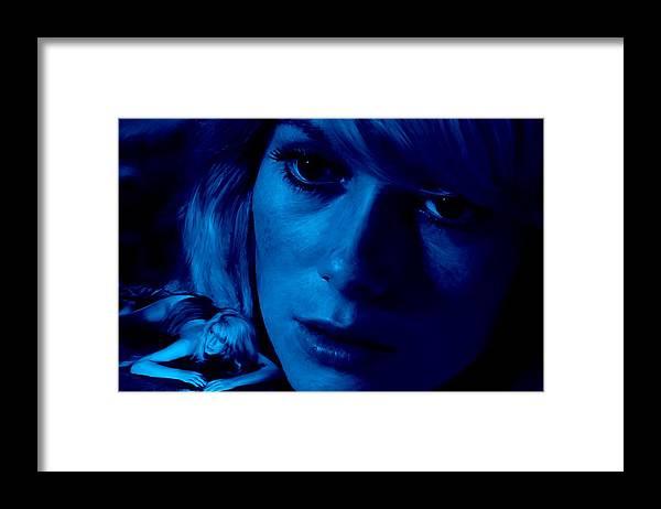 Catherine Deneuve Framed Print featuring the digital art Catherine Deneuve in the film Repulsion by Gabriel T Toro