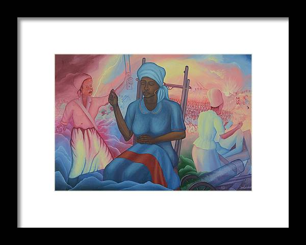 Freedom Ladies Framed Print featuring the painting Catherine Flon by Jean E Laurent